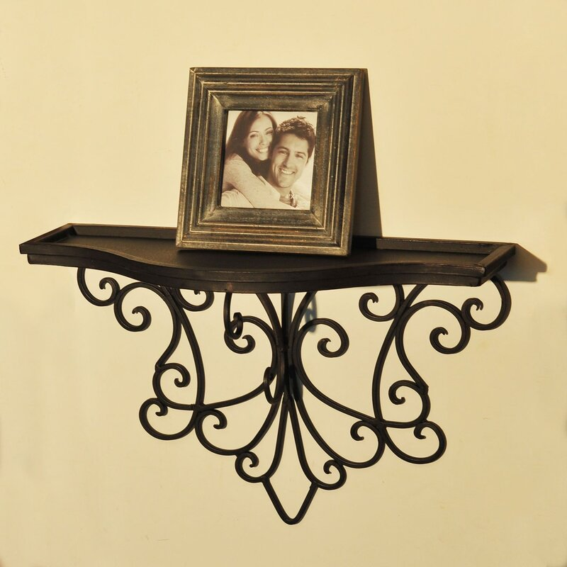 AdecoTrading Decorative Abstract Scroll Design Wall Shelf & Reviews ...