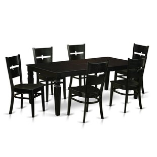 Davy 7 Piece Dining Set Latitude Run
