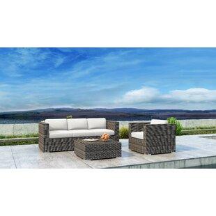 Gilleland 3 Piece Sofa Set with Sunbrella Cushion
