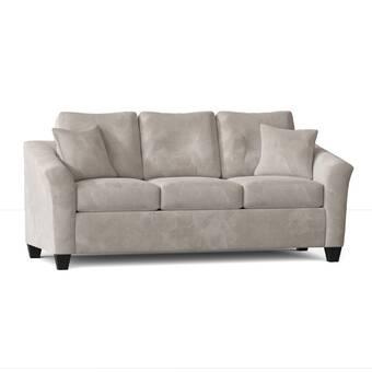 Charlton Home Waldschmidt Microfiber Microsuede 89 Pillow Top Arm Sofa Reviews Wayfair