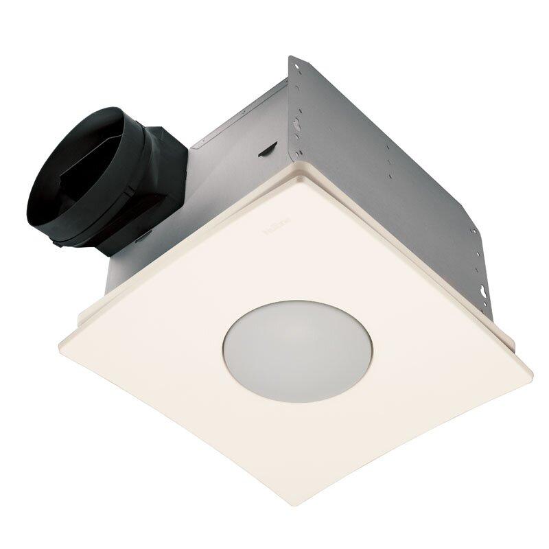 Ultra Silent Quietest Bathroom Fan With Fluorescent Light Energy Star