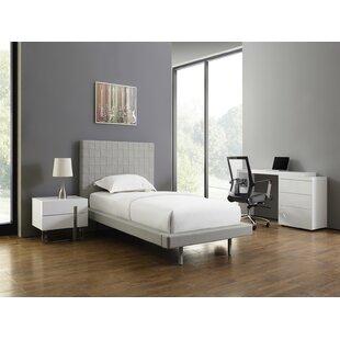 Casabianca Furniture Zack Upholstered Platform Bed