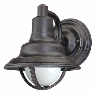 Price comparison Geller 1-Light Outdoor Barn Light By Breakwater Bay