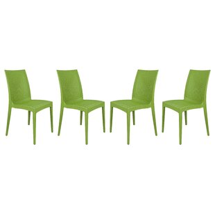 Quade Stacking Patio Dining Chair (Set Of 4) by Winston Porter Top Reviews