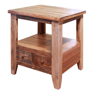 Robbs End Table With 2 Drawer by Loon Peak Read Reviews