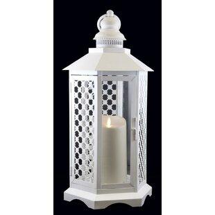 Northlight Seasonal Floral Lattice Lantern with Luminara Flameless LED Lighted Candle
