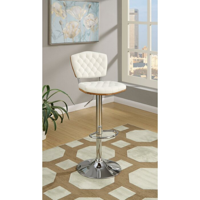 Super Luro Tufted Seat And Back Adjustable Height Bar Stool Gmtry Best Dining Table And Chair Ideas Images Gmtryco