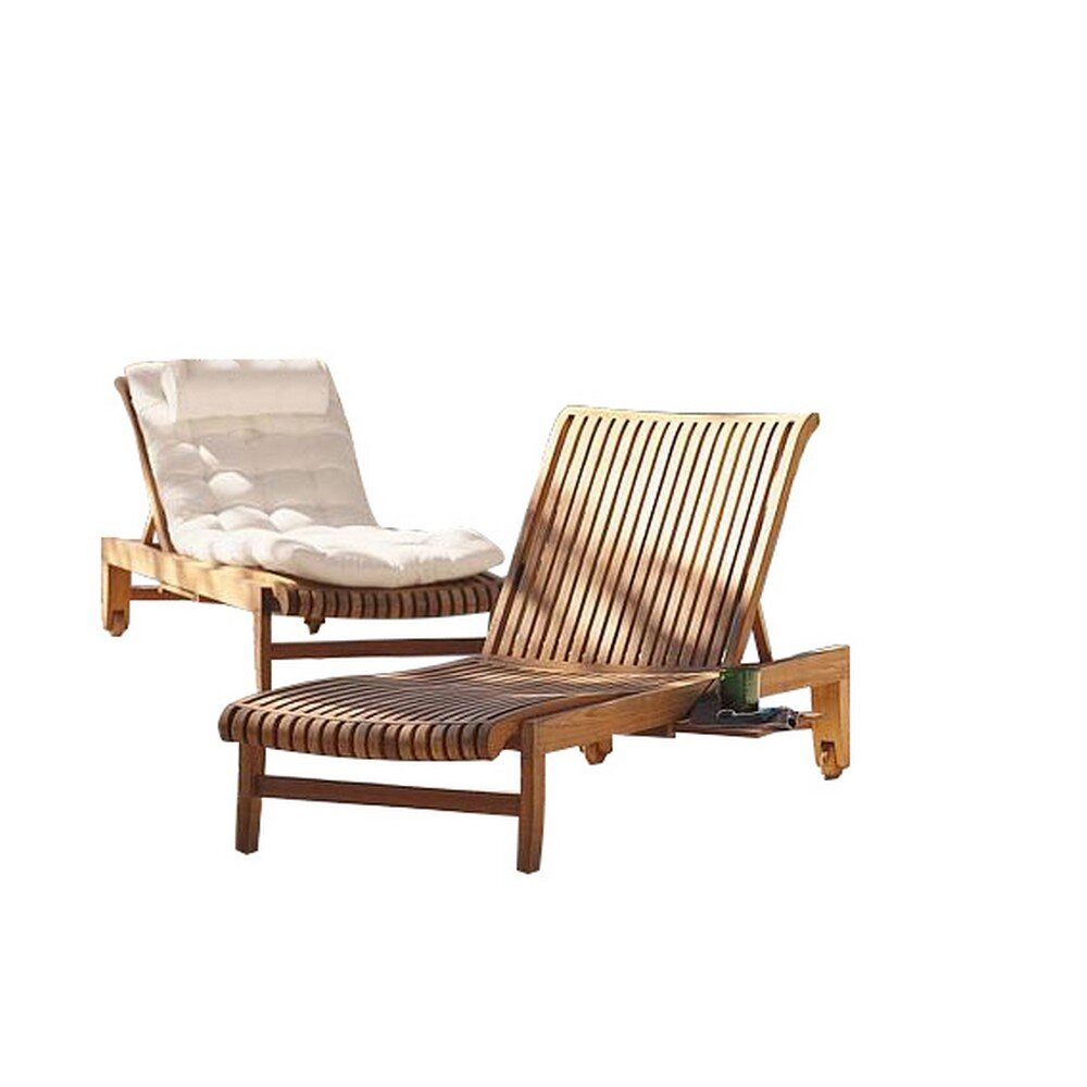Teak Highland Dunes Outdoor Chaise Lounge Chairs You Ll Love In 2021 Wayfair