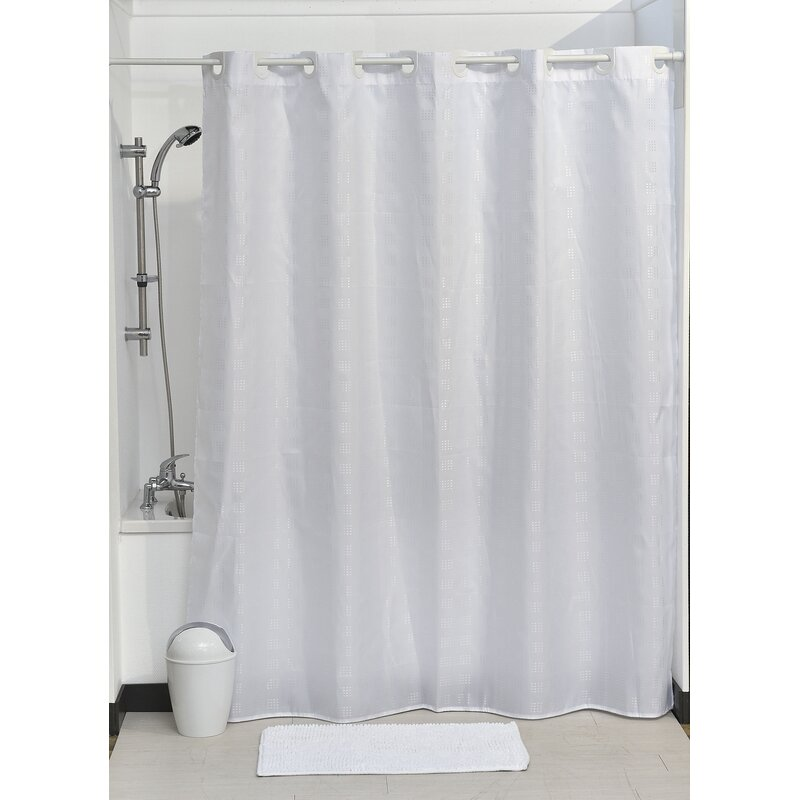 Evideco Hookless Shower Curtain Wayfair Ca