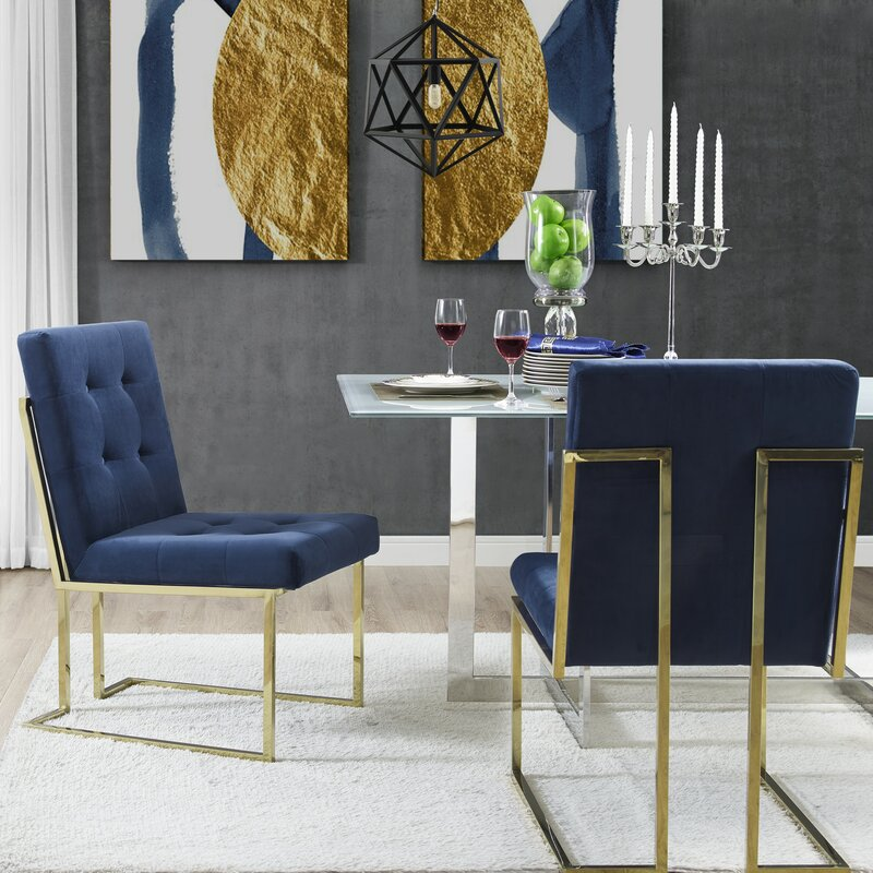 Everly Quinn Bellamy Upholstered Dining Chair (Set of 2)