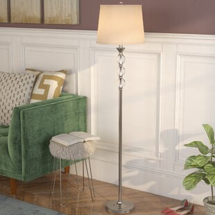 Floor lamps youll love wayfair shipton crystal and metal 615 floor lamp aloadofball Images