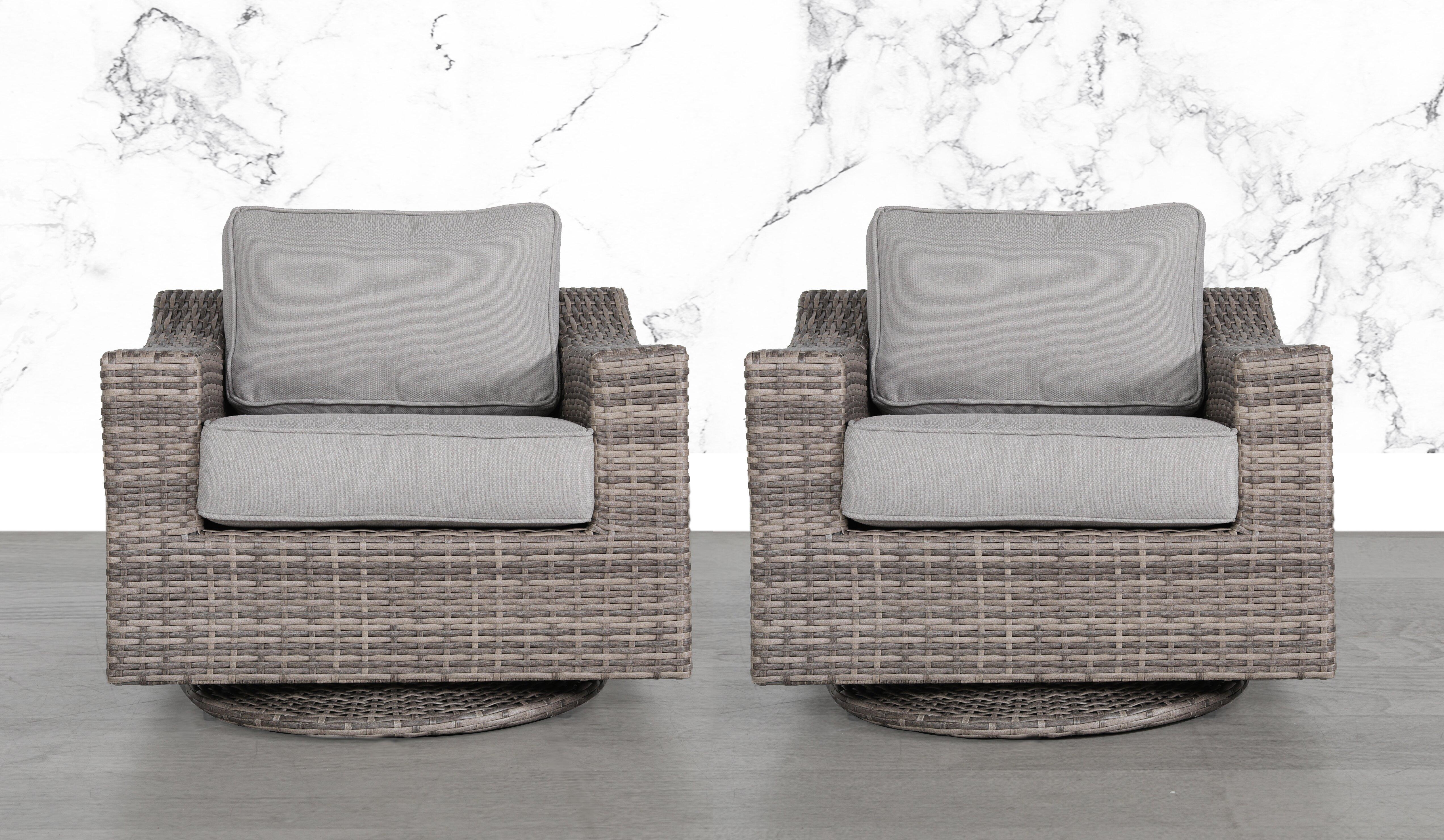 laurene club swivel patio chair with cushions