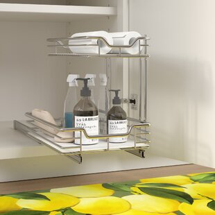 2 Tier Under Sink Shelf Sliding Pull Out Drawer