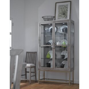 Brayden Studio Pingree Lighted China Cabinet