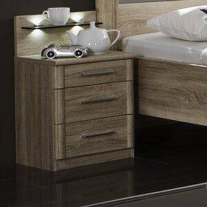 2-tlg. Nachttisch-Set Meran mit 3 Schubladen von..