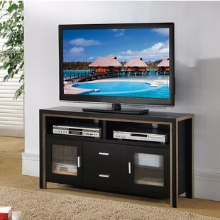 Cheap Duenas TV Stand with See Through Plastic Cabinets Latitude Run