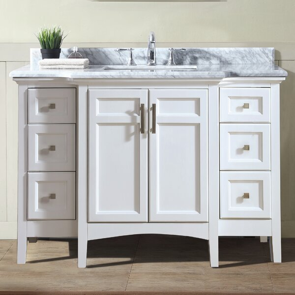 Narrow Depth Bathroom Vanity | Wayfair
