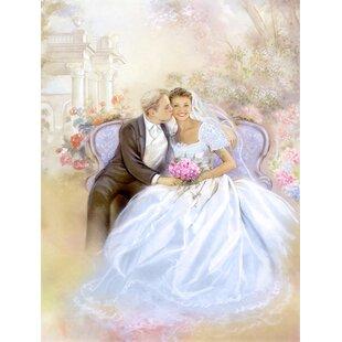 Wedding Couple Kiss 2 Sided Garden Flag