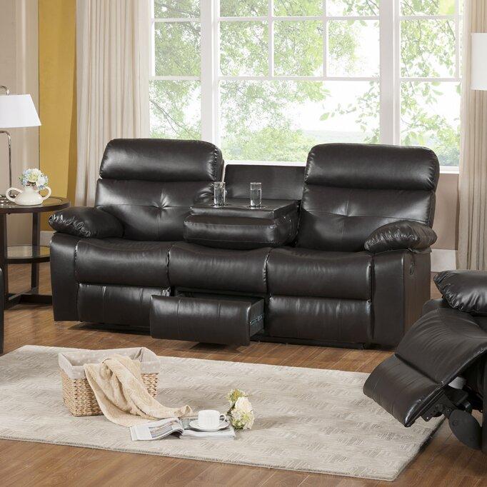 Roquette Leather Reclining Sofa & Primo International Roquette Leather Reclining Sofa u0026 Reviews ... islam-shia.org