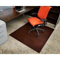 Floor Mat For Desk Chair symple stuff bamboo rectangular office chair mat & reviews   wayfair