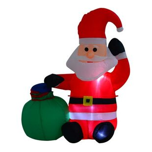 Christmas Santa Claus Inflatable By The Seasonal Aisle