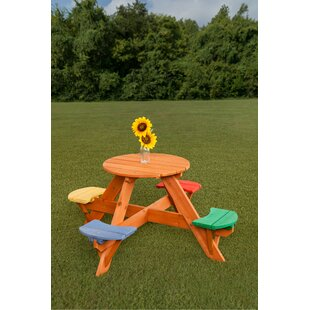 Higdon Kidu0027s Round Wooden Picnic Table