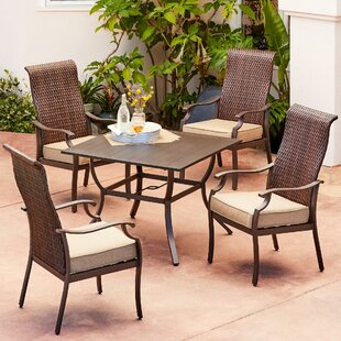 Kinlaw Rhone Valley 5 Piece Dining Set with Cushions