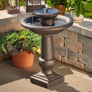 Smart Solar Solar Chatsworth Two-Tier Birdbath