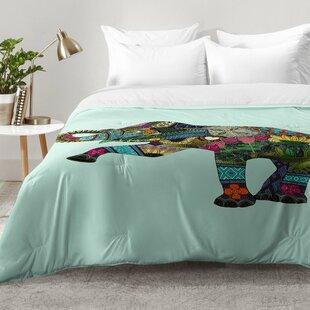 East Urban Home Asian Elephant Comforter Set
