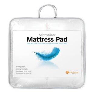 Heavenly Microfiber Goose Overstuffed Hypoallergenic Mattress Topper