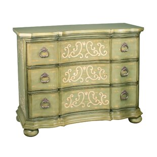 Howarth Scroll 3 Drawer Chest by Bloomsbury Market