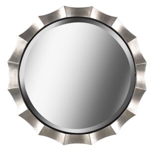 Reviews Round Silver Wall Mirror By Bay Isle Home