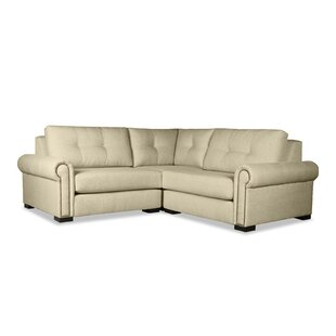 Willia Buttoned Right and Left Arms L-Shape Mini Modular Sectional
