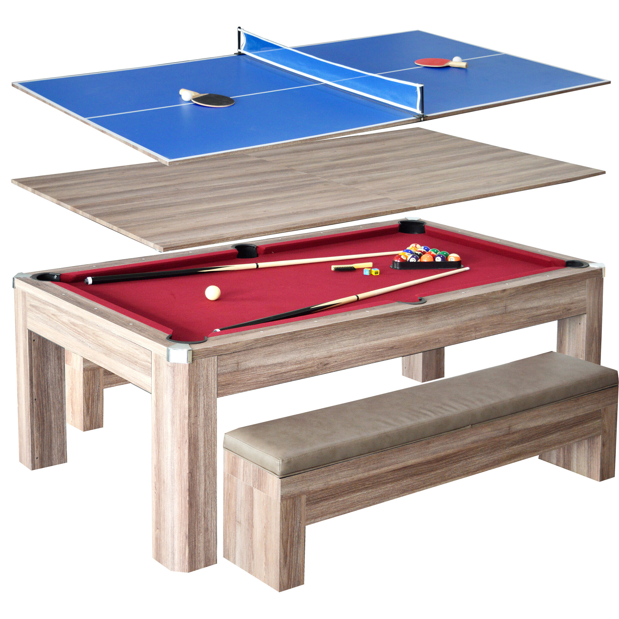 Hathaway Games Newport 2 Piece 7u0027 Pool Table Set U0026 Reviews | Wayfair