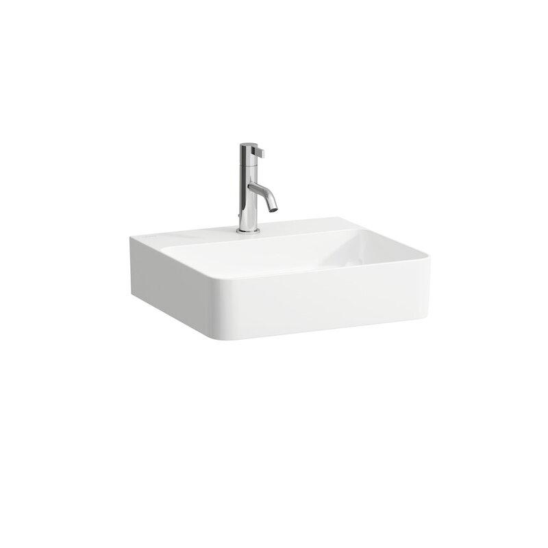 Laufen Val Ceramic White Ceramic Rectangular Wall Mount Bathroom Sink With Overflow Perigold
