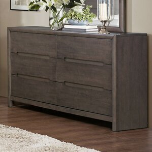 Lavinia 6 Drawer Double Dresser by Woodhaven Hill