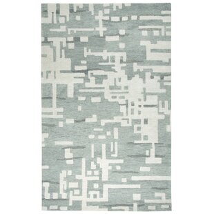 Morpheus Hand-Tufted Gray/Off White Area Rug By Brayden Studio