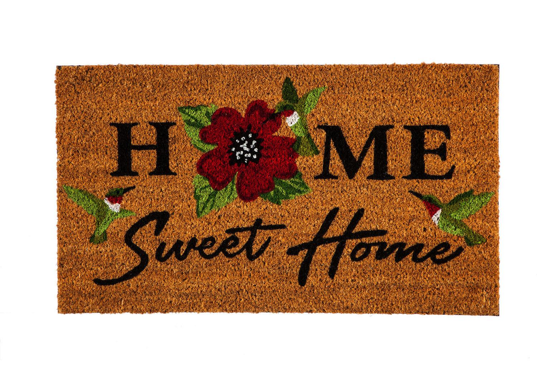 Rosalind Wheeler Pelletier Home Sweet Home Hummingbirds 28 X 16 Non Slip Indoor Door Mat Wayfair
