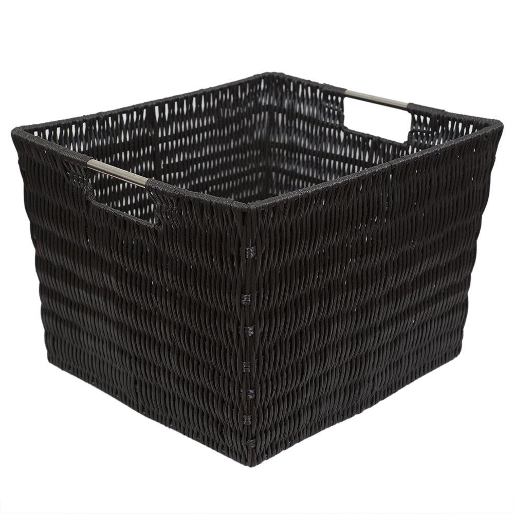 X Large Decorative Weave Plastic Bin