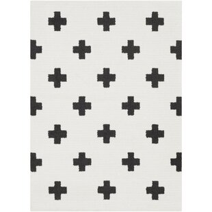 Bargain Elissa Boho Crafted Charcoal/White Area Rug By Ebern Designs