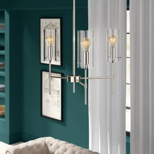Plattsmouth 3-Light LED Shaded Chandelier by Greyleigh