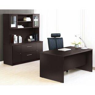 Latitude Run Buragate 8 Piece Office Set with Hutch