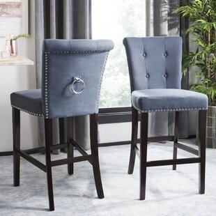 Prater 29.5 Bar Stool with Cushion (Set of 2) DarHome Co