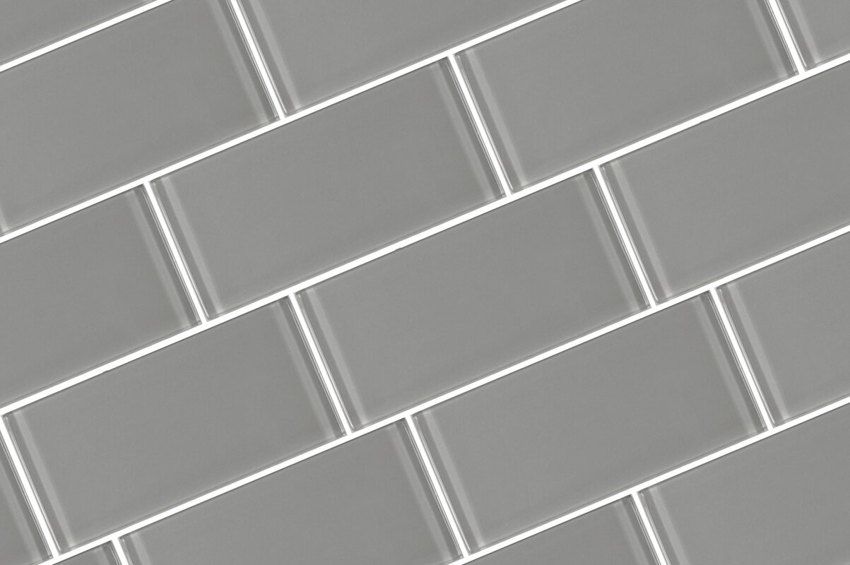 Abolos Metro 3 X 6 Glass Field Tile In Pebble Reviews