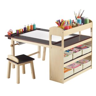 Emilio Kids 3 Piece Arts and Crafts Table Chair Set Modern + Sets | AllModern