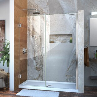 Unidoor 61 x 72 Hinged Frameless Shower Door with Clearmax? Technology by DreamLine
