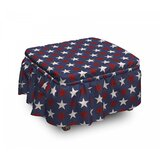 Primitive Country Us Freedom 2 Piece Box Cushion Ottoman Slipcover Set by East Urban Home