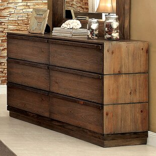A&J Homes Studio Anita 6 Drawer Double Dresser Image