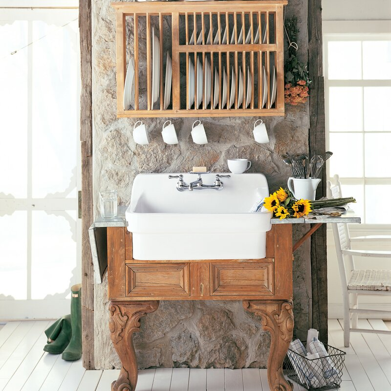 "Cornice 30"" L x 22"" W Farmhouse Kitchen Sink is a gorgeous addition to your country kitchen, laundry, or even bath!"