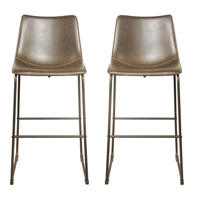 Faux Leather Seat Bar Stools You Ll Love Wayfair Co Uk